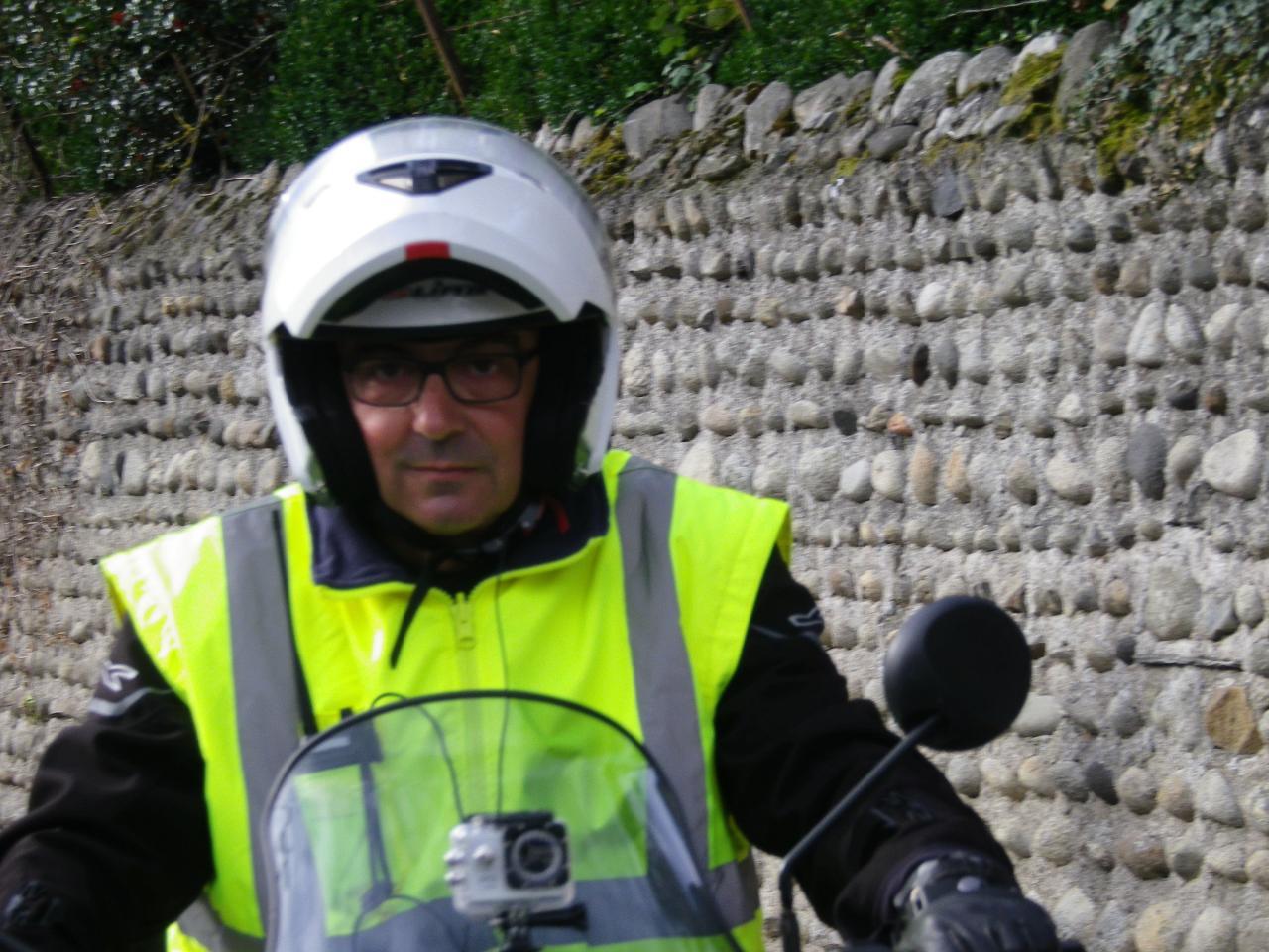 Le président en moto d'ouverture de la Caminade d'Odos 2016